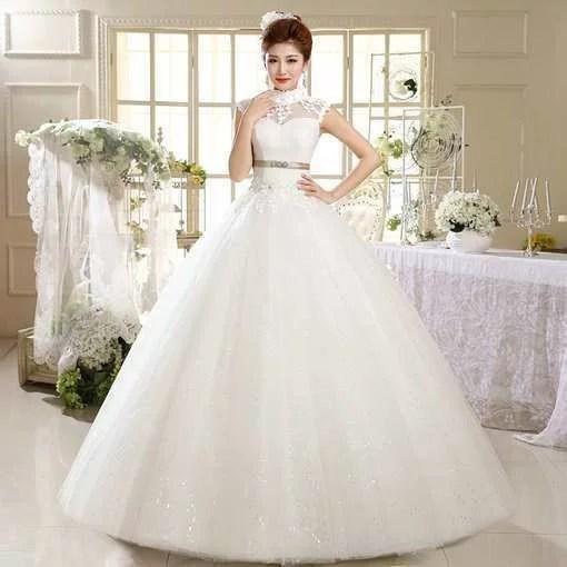 Wedding Gown Online High neck Ball Gown Wedding Dress - Cheap Prom ...