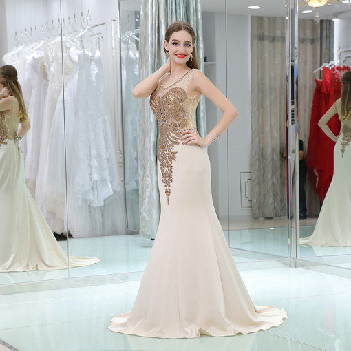 Mermaid Hand Made Beading Formal Evening Gown Dresses Online