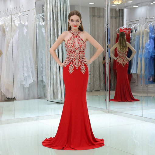 Mermaid White Formal Evening Gown With Train Online