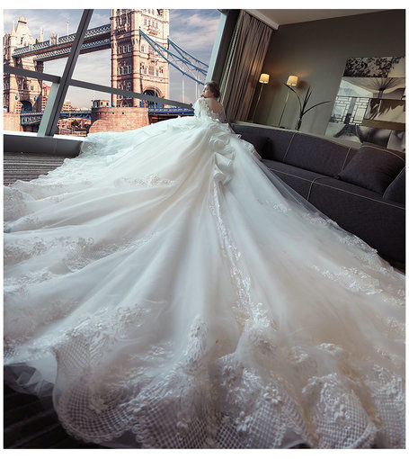 Affordable off the shoulder lace wedding dress floor length long wedding dress long train 391 07 junglespirit Image collections