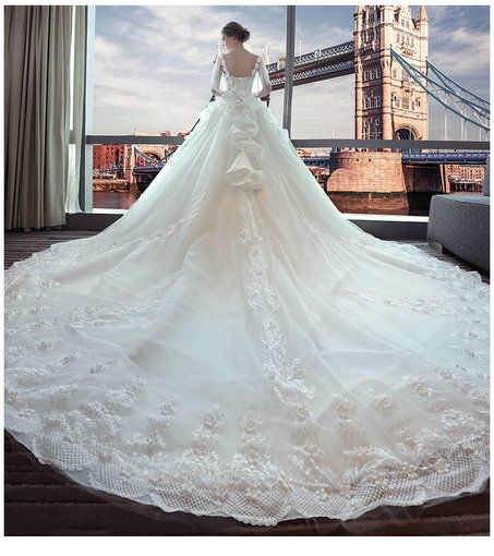 Affordable Off The Shoulder Lace Wedding Dress Floor Length Long ...
