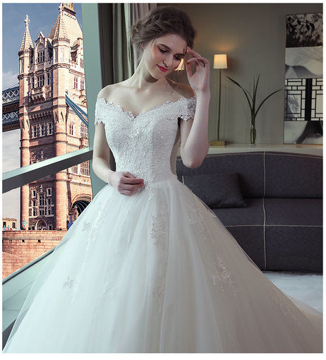 Ball Gown Wedding Dress Princess Floor Length Train Wedding Gowns ...