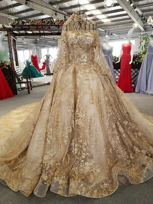 haute couture gold wedding
