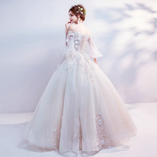 Strapless Ball Gown Princess Wedding Dress With Sleeves Wholesale
