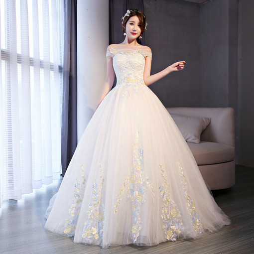 Wedding Dress Ball Gown Lace Off Shoulder Bridal Dress Wholesale