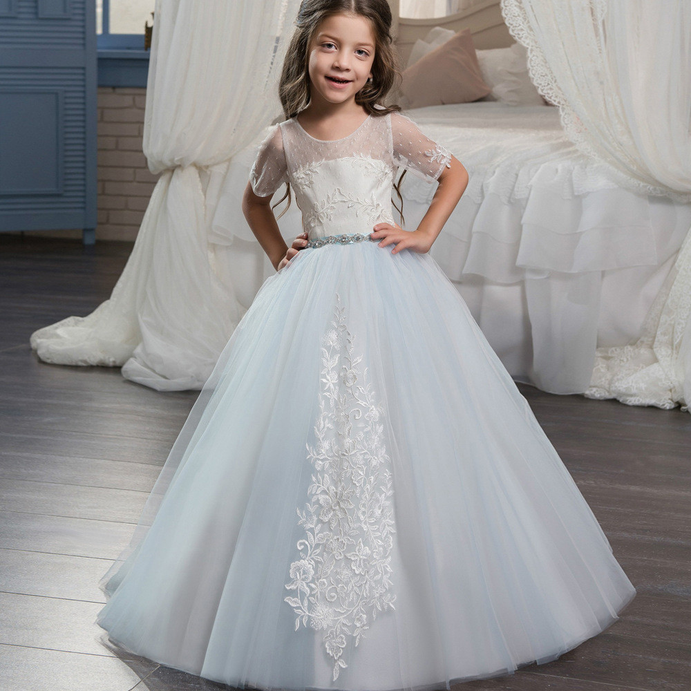light blue flower girl dresses-0633_0002 - Cheap Prom Dress,Evening ...