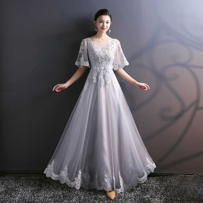 Light Grey Bridesmaid Dress 753 05