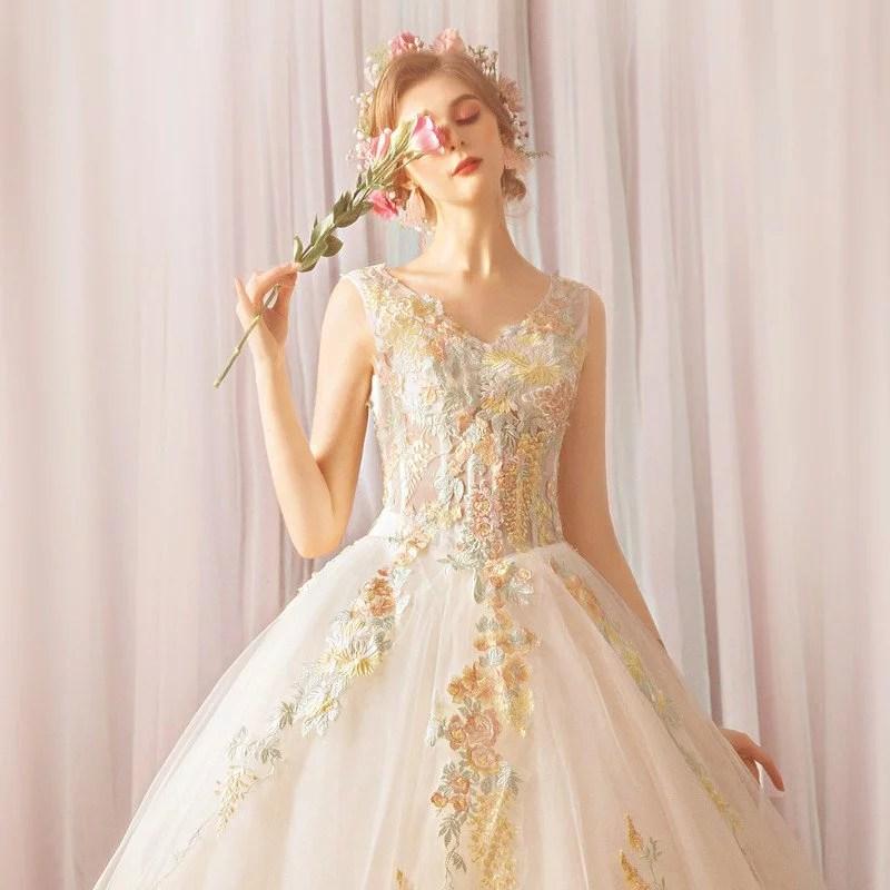 Wedding Dress Princess V Neck Ball Gown Plus Size Online