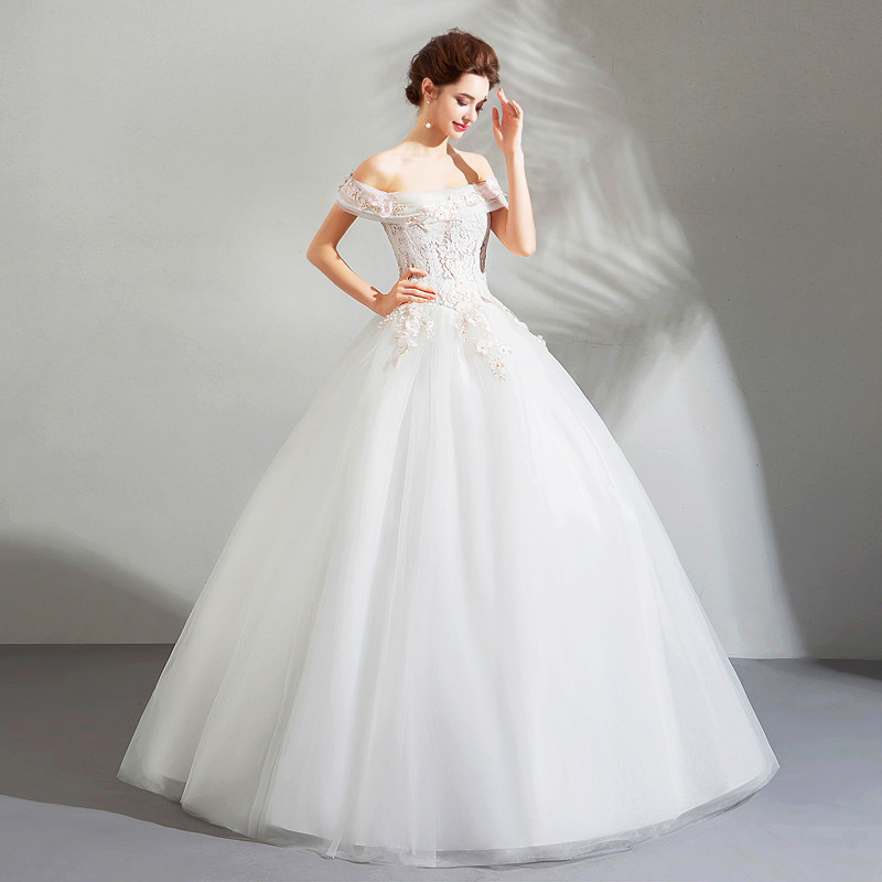 Cheap Ball Gown Wedding Dress Off The Shoulder For Sale
