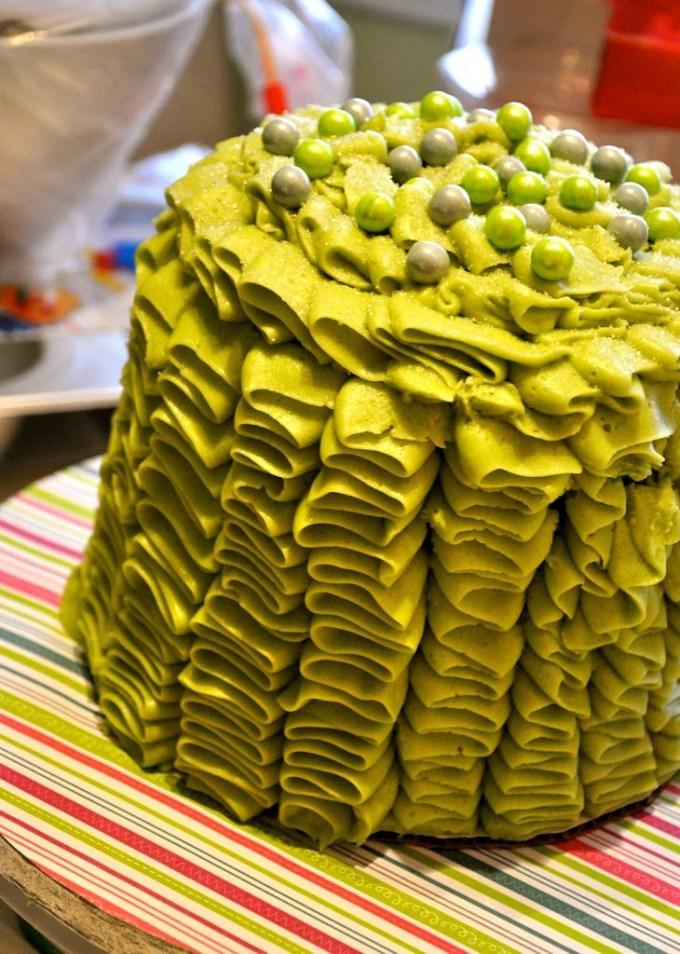 Red Velvet Ruffled Buttercream Cake