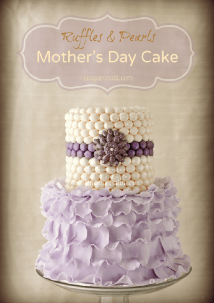 Mother's Day Ruffles and Pearls Cake
