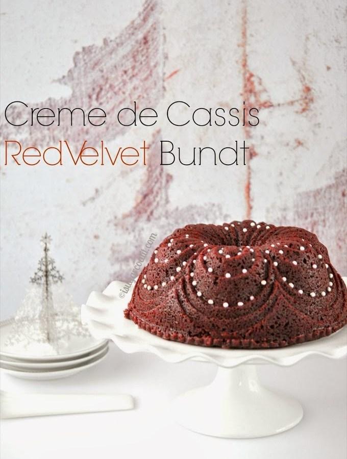 Creme de Cassis Red Velvet Bundt