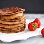 Banana Flour Pancakes with Berry Coconut Yogurt