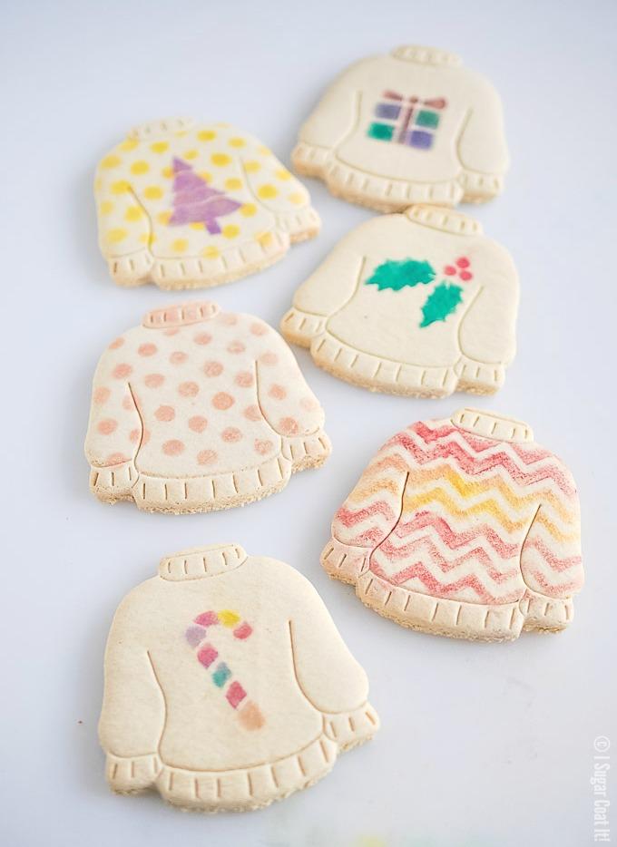 Ugly Sweater Vanilla Christmas Cookies I Sugar Coat It