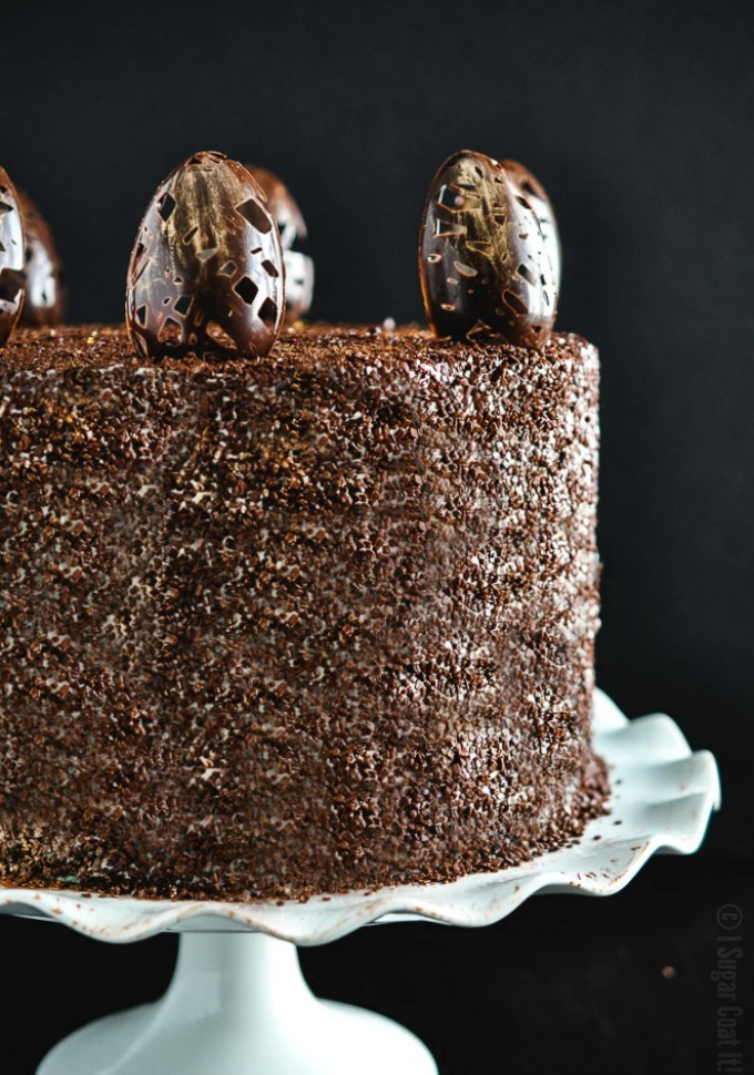 Chocolate And Caramel Mud Cake Layered With Salted Caramel Buttercream