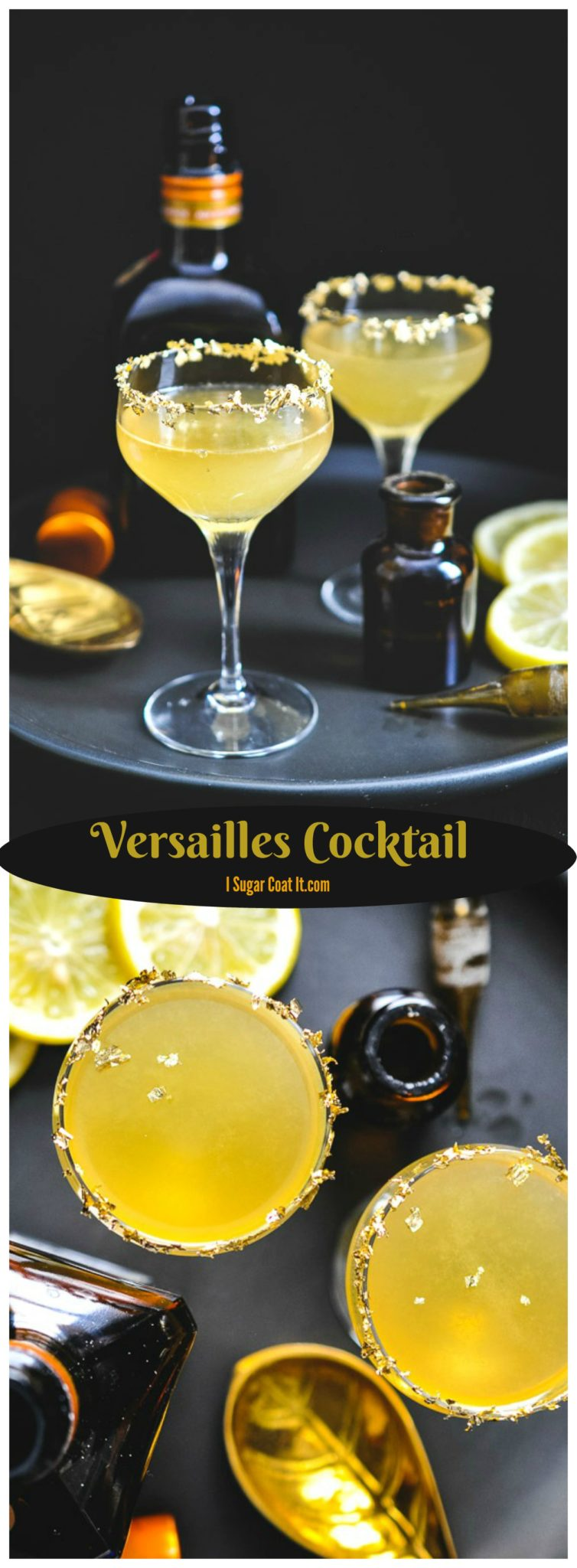 Crisp and tart with a touch of bling, the Versailles Cocktail is a perfect way to bling in the new year!