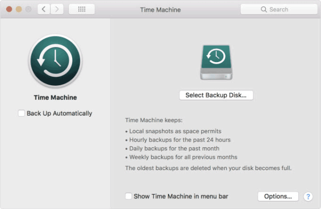 Back up your Mac hard drive