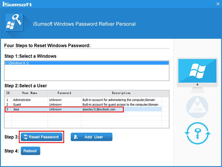 How to Reset Microsoft Account Password in Windows 8/8.1