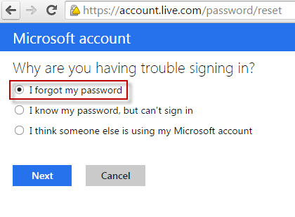 i forgot my password for windows 8 1