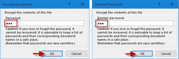 Escriba la contraseña de apertura del documento de Excel