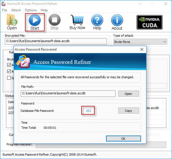 ms access password reset