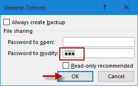 excel file opening as read only