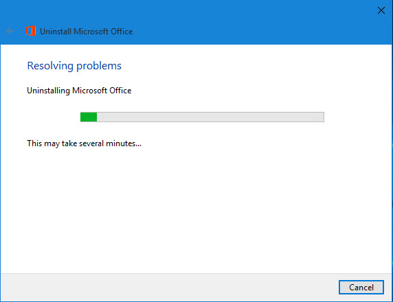 remove office 365 from windows 10