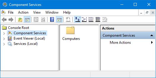 iniciar servicios de componentes
