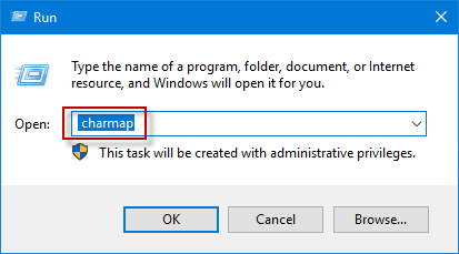 Character Map In Windows on