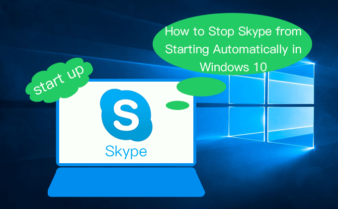 evitar que Skype se inicie automáticamente