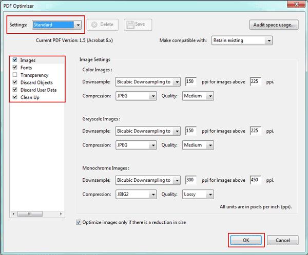 ways to reduce pdf size
