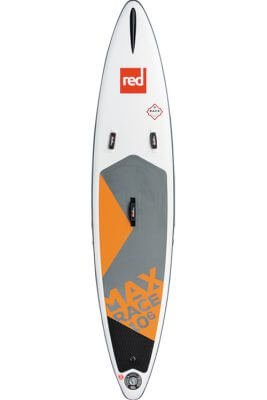 "red paddle 10'6""x26 max race msl inflatable supboard"