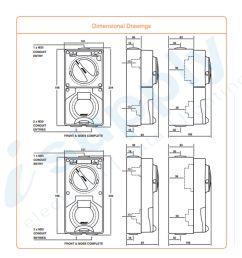 pulset single phase 3 flat pin combo switch socket 10a ip co1ph10 [ 1200 x 1500 Pixel ]