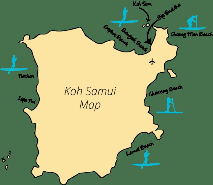 Detailed Map Of Koh Samui