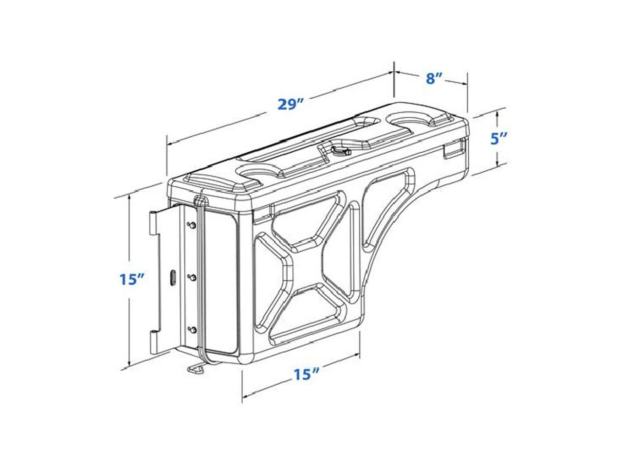 2012 On Isuzu D-Max Swing Case Tool Box (Left Hand Side
