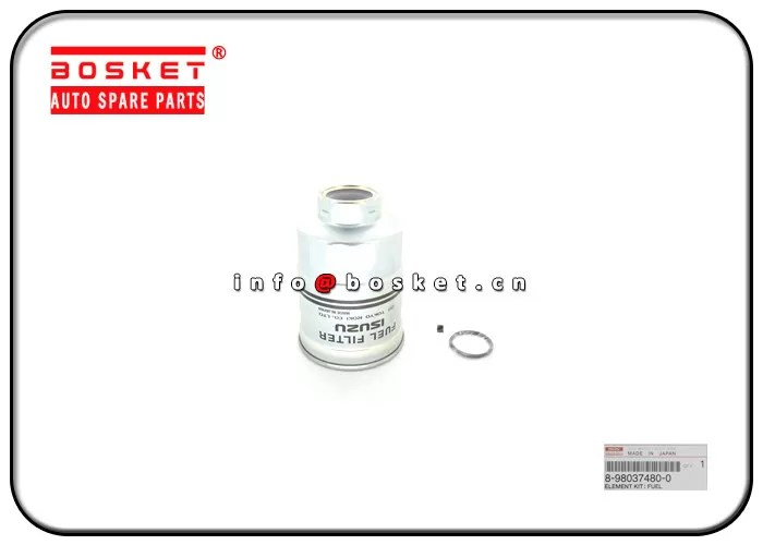 Fuel Filter Element Kit For Isuzu 4JH1 8-98037480-0 8