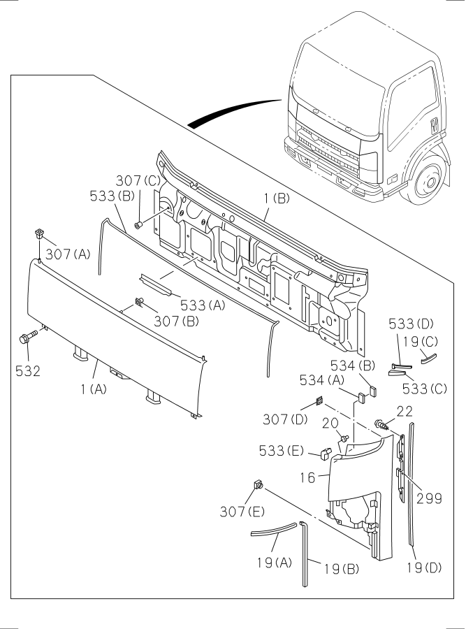 isuzu truck parts diagram