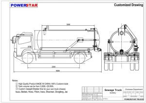 CostEffective Vacuum Sewage Suction Truck Isuzu 4x2,Vacuum Sewage Suction TrucksPowerStar Trucks