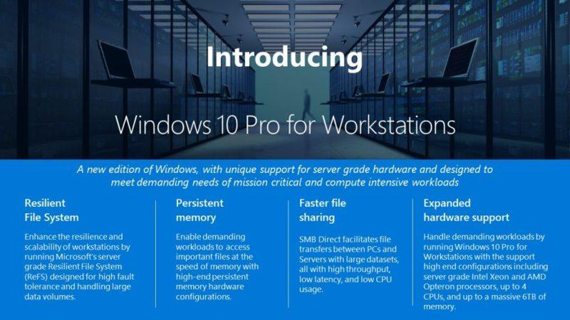 Microsoft lancerer Windows 10 Pro for Workstations
