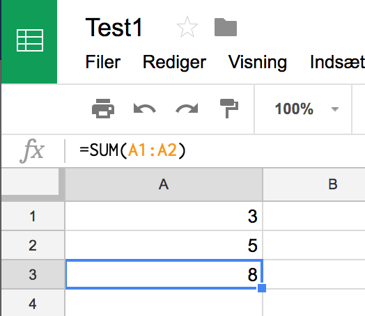 Google Sheets Guide 1 – Introduktion til Google Sheets