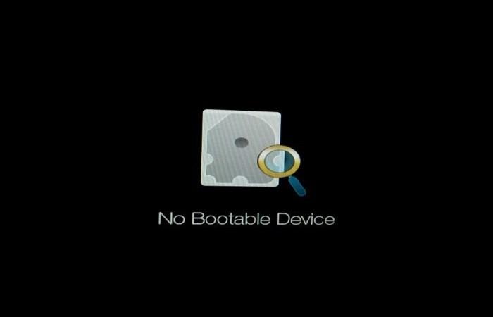 No bootable device efter installation af Ubuntu