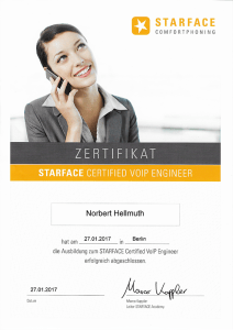 Starface Certified VoIP Engineer Norbert Hellmuth