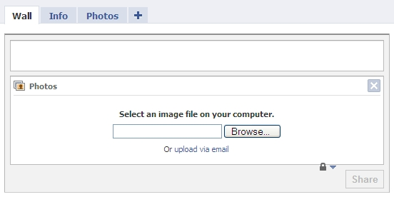 Upload a Photo Facebook
