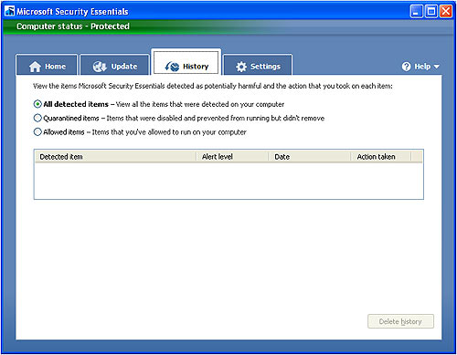 microsoft_security_essentials_history_screen