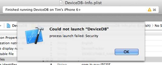 launch failed security