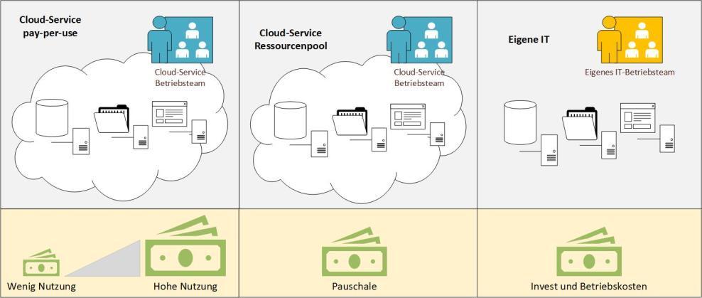Modelle zur Bereitstellung von IT-Ressourcen und Kosten