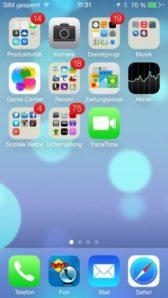 Stein des Anstoßes: der quietschbunte Startscreen von iOS 7