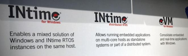TenAsys auf der Embedded World 2018 - TenAsys' Realtime-OS kommt in drei Ausprägungen daher- INtime for Windows, INtime RTOS und eVM for Windows