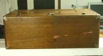 9. Cassa Gerstner da trasporto ed esposizione preziosi, pulitura, coperchio superiore