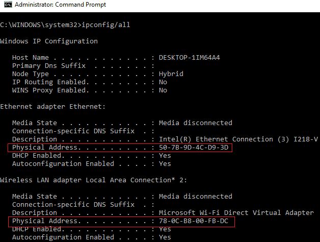 MAC-address-commandprompt
